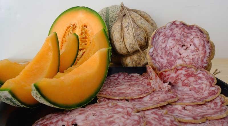 Salamina-con-melone