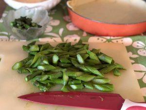 Torta salata come tagliare asparagi